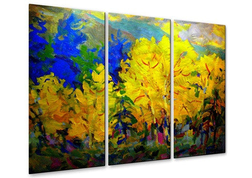 Aspen Contemporary Modern Metal Wall Art By Brian Simons