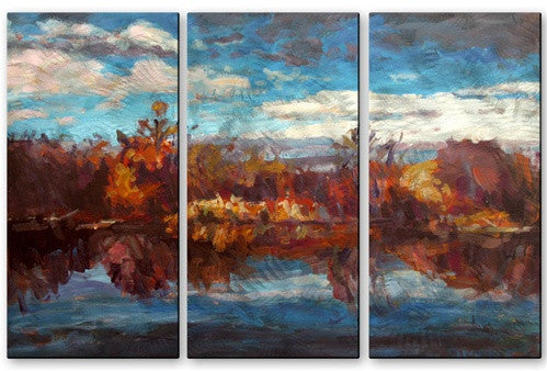 Autumn Reflection - Metal Wall Art Decor - Brian Simons