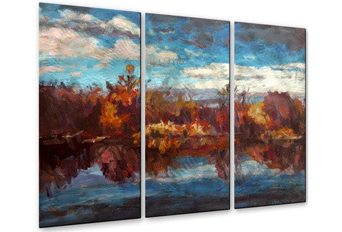 Autumn Reflection - Contemporary Metal Wall Hanging - Brian Simons