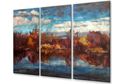 Autumn Reflection - Metal Wall Art Sculpture - Brian Simons