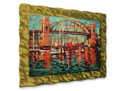 Burrard St. Bridge - Metal Wall Art Decor - Brian Simons