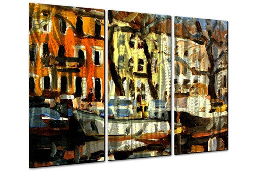 Canal Boats - Metal Wall Art Decor - Brian Simons