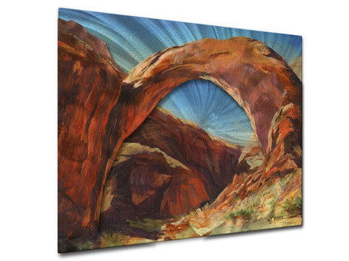 Rainbow Arch - Contemporary Metal Wall Hanging - Nancy Jean Busse