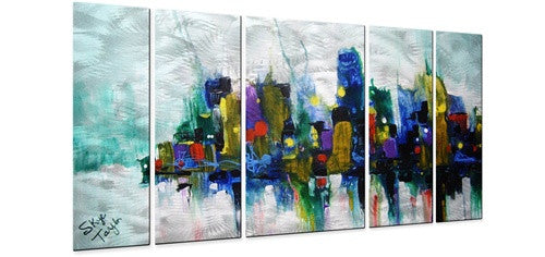 Chicago Storm - Metal Wall Art Decor - Skye Taylor