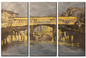 Pont Vecchio - Metal Wall Art Decor - Keith Wilke