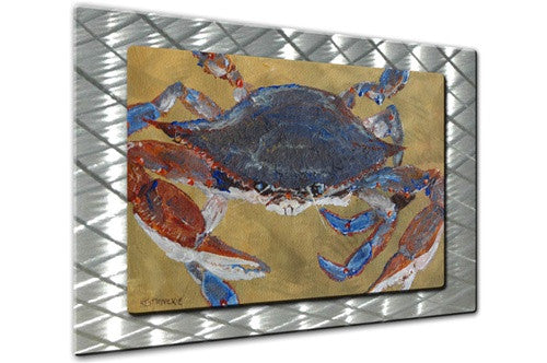 Mr. Crab - Metal Wall Art Decor - Keith Wilke