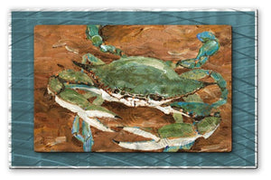 Crab Season - Metal Wall Art Decor - Keith Wilke