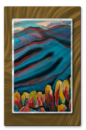Blue Mountains - Metal Wall Art Decor - Kip Decker