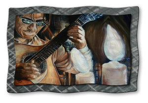 La Guitarra - Metal Wall Art Decor - Jennifer Lycke