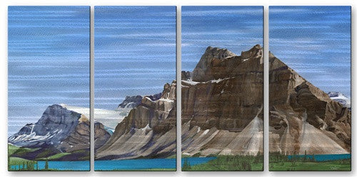 Bow Lake - Metal Wall Art Decor - Glen Frear