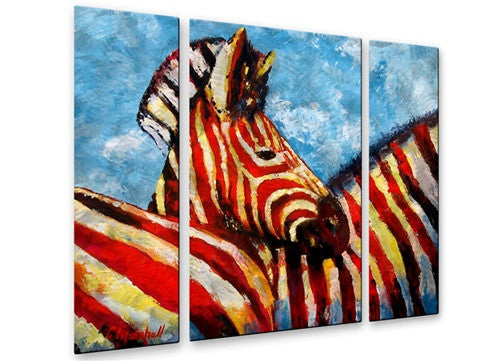 Zebra Baby - Metal Wall Art Decor - Claude Marshall