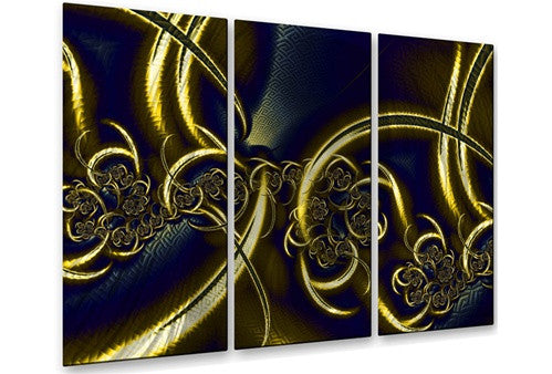 Black and Gold - Metal Wall Art Decor - Victoria Brago