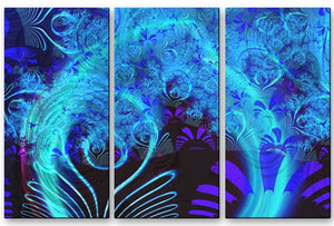 Blue Garden - Metal Wall Art Decor - Victoria Brago