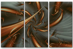 Copper Whirl - Metal Wall Art Decor - Victoria Brago