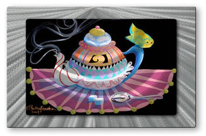 Teapot - Metal Wall Art Decor - Shelley Overton