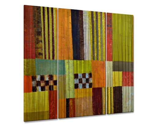Color and pattern abstract - Metal Wall Art Decor - Michelle Calkins