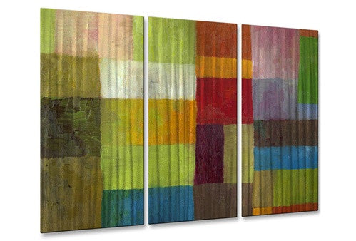 Abstract color panels IV - Metal Wall Art Decor - Michelle Calkins