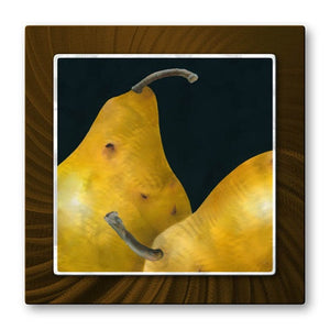 Golden Pears - Metal Wall Art Decor - Ora Sorenson