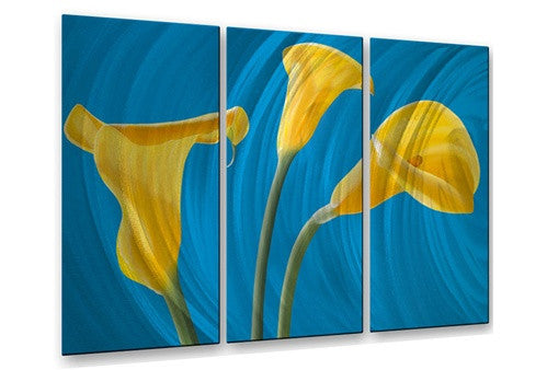 Yellow Callas - Metal Wall Art Decor - Ora Sorenson