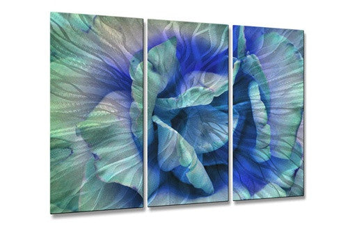 Blue Rose - Contemporary Metal Wall Hanging - Allyson Kitts