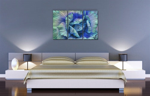Blue Rose - Metal Wall Art Room Furnishing - Allyson Kitts