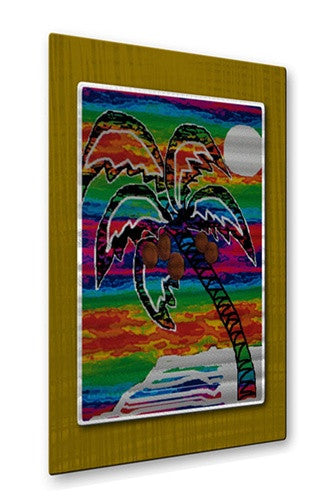 Coconut Island - Metal Wall Art Decor - Darlene Navor
