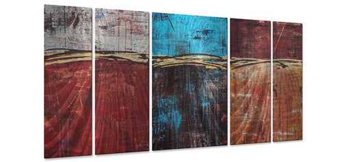 Lithosphere 29 - Metal Wall Art Decor - Hilary Winfield