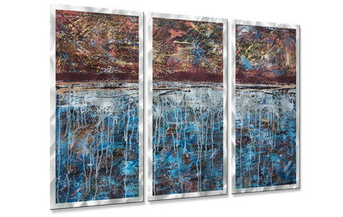 Lithosphere 25 - Metal Wall Art Decor - Hilary Winfield