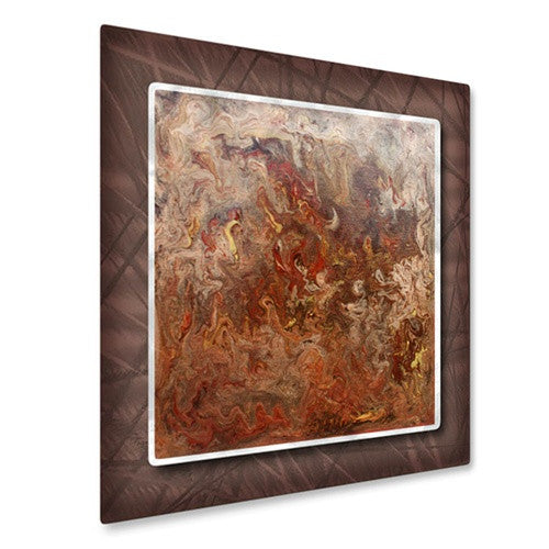 Marbleized Copper - Metal Wall Art Decor - Hilary Winfield