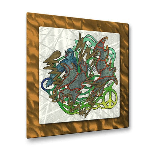 Abstractions with a Bird - Metal Wall Art Decor - Steven Weber