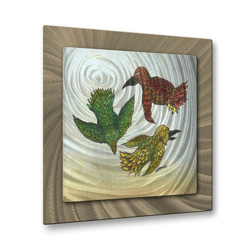 Three Little Birds - Metal Wall Art Decor - Steven Weber