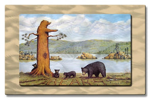 27 Bears - Metal Wall Art Decor - Jerome Stumphauzer