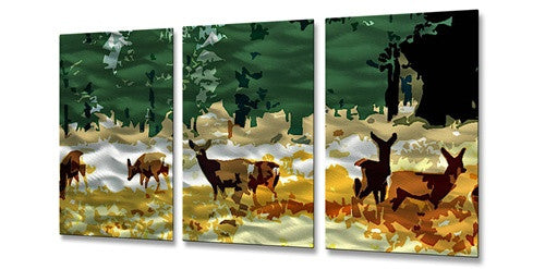 Deer - Metal Wall Art Sculpture - Jerome Stumphauzer