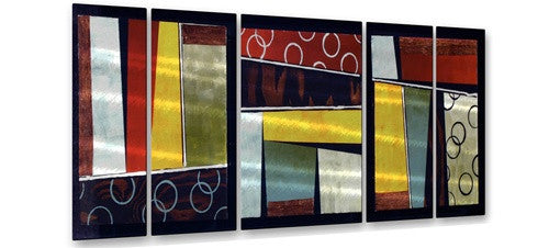 Aerial View Tryptic - Metal Wall Art Decor - Aimee Dieterle