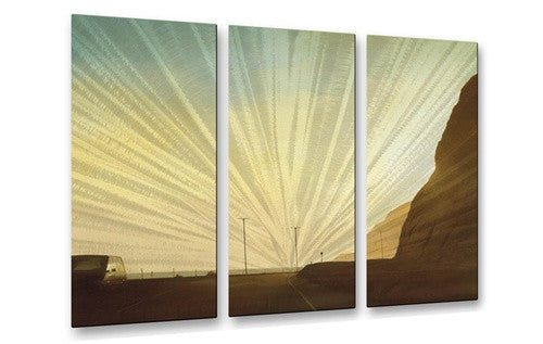 California Road 12 - Metal Wall Art Decor - Relja Penezic