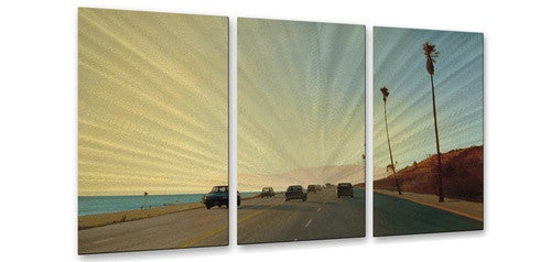 California Road 16 - Metal Wall Art Decor - Relja Penezic