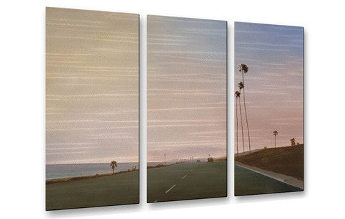 California Road 10 - Metal Wall Art Decor - Relja Penezic