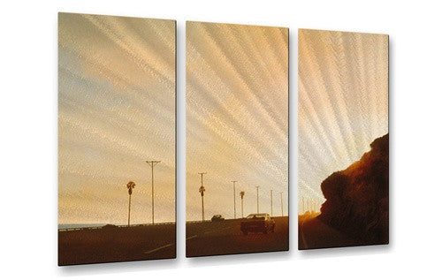 California Road 7 - Metal Wall Art Decor - Relja Penezic