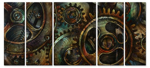 Geared up - Metal Wall Art Decor - Michael Lang
