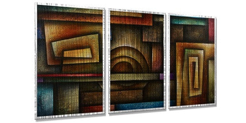 Abstract Mind - Contemporary Metal Wall Hanging - Michael Lang