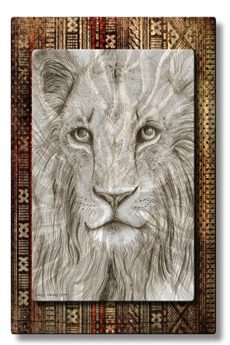 African Lion - Metal Wall Art Decor - Holly Carmichael