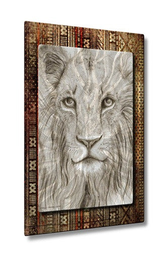 African Lion - Contemporary Metal Wall Hanging - Holly Carmichael