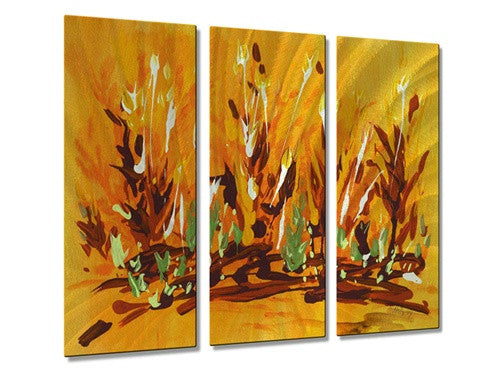 Autumn Garden - Metal Wall Art Decor - Holly Carmichael