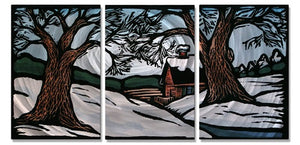Winter Landscape - Metal Wall Art Decor - John Schirmer