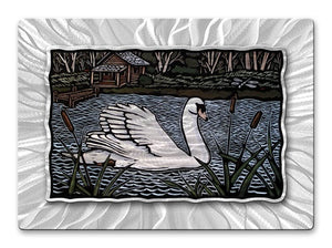 Swan River - Metal Wall Art Decor - John Schirmer
