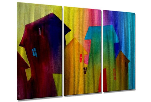 Abstract Houses - Metal Wall Art Decor - Richard Graves