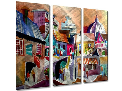 Napoli Side Street - Metal Wall Art Decor - Richard Graves