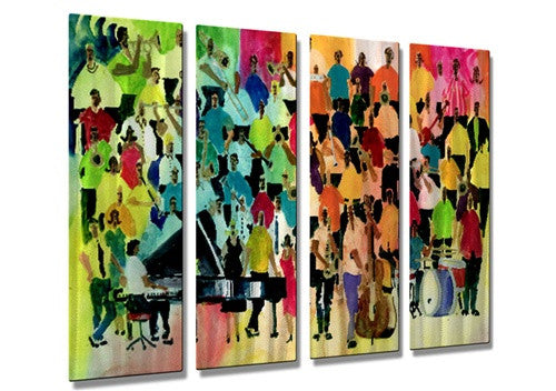 Scarf Jazzmen - Metal Wall Art Decor - Richard Graves