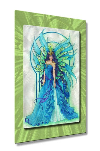 Peacock Fairy - Metal Wall Art Decor - Teri Rosario