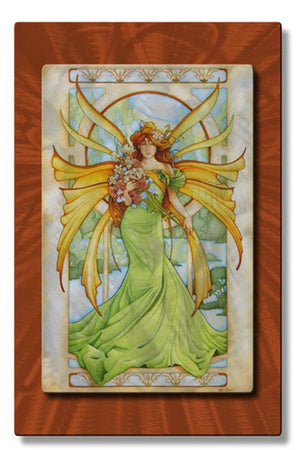 Spring Fairy - Metal Wall Art Decor - Teri Rosario